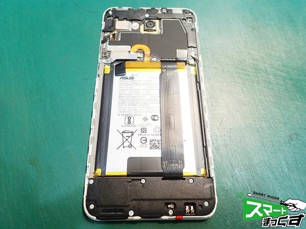 ZenFone 4 Selfie リアパネル取り外し
