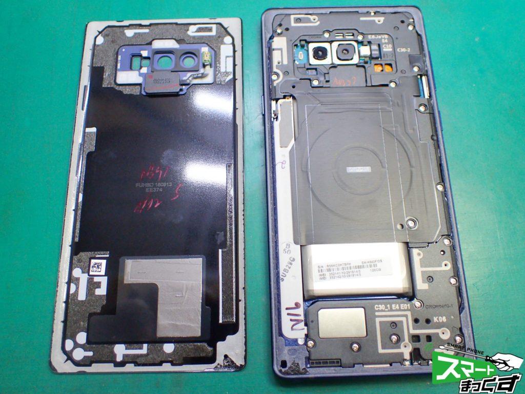 Galaxy Note9 SC-01L リアパネル分解