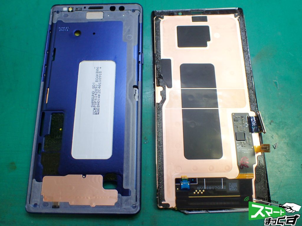 Galaxy Note9 SC-01L ディスプレイ取外し