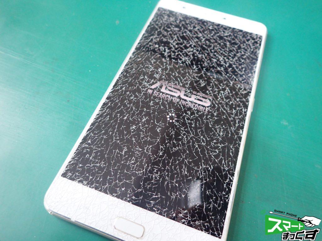 Zenfone3 Ultra ZU680KL 画面割れ