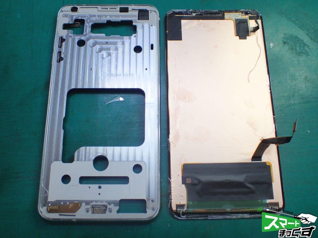 LG V30+ L-01K 不具合ディスプレイ取外し
