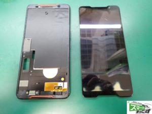 ROG Phone ZS600KL 破損ディスプレイ取り外し