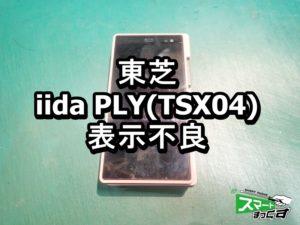 iida PLY TSX04 表示不良端末