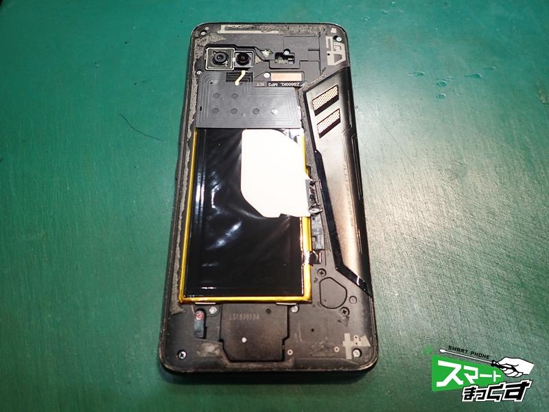 ROG Phone 画面割れ ZS600KL リアパネル分解