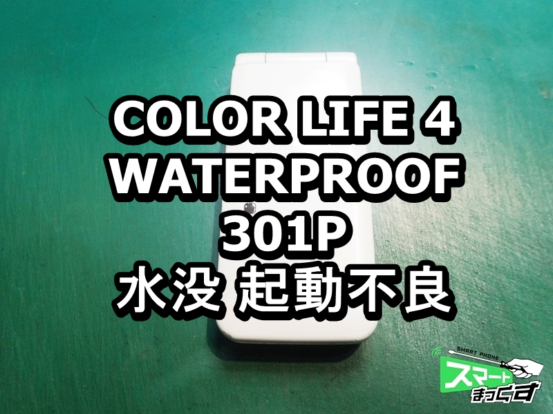 COLOR LIFE 4 WATERPROOF 301P 水没 起動不全 端末