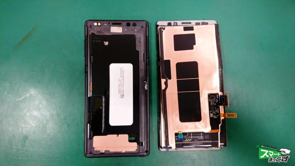 Galaxy NOTE9(SCV40) ガラス割れ交換修理!-6