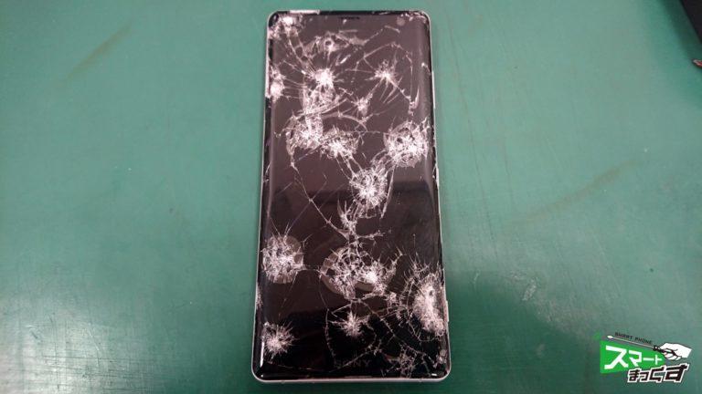Xperia XZ3 (SO-01L/SOV39)ガラス割れ交換 即日修理!-1